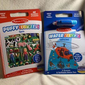 💥 4 / $28 Melissa & Doug Travel Toy Set - Farms and Vehicles - TYN41